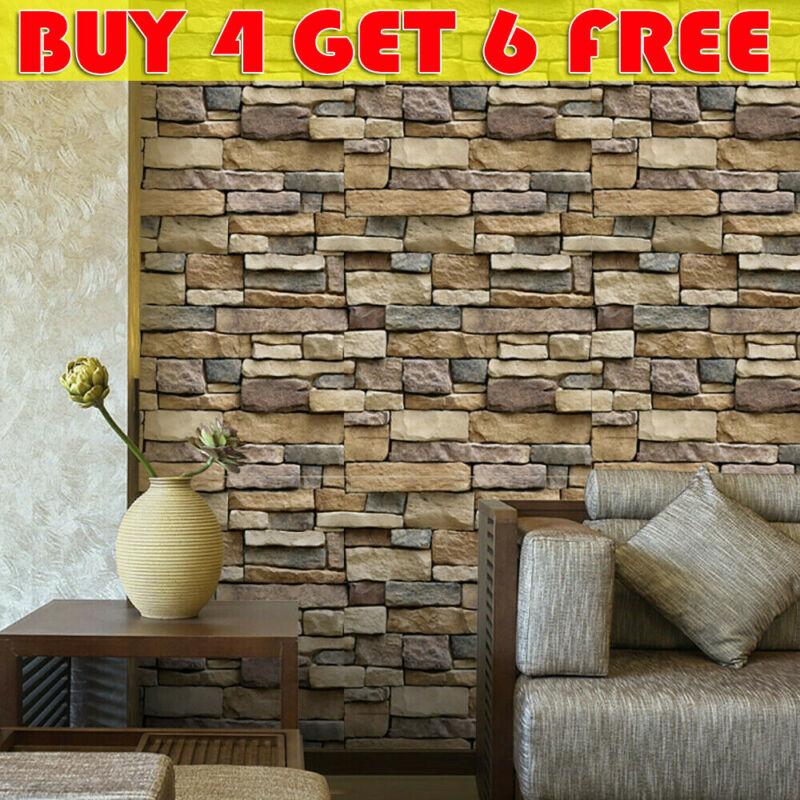Brick Stone Self Adhesive Wall Sticker Panel Wallpaper Living Room Decor MP