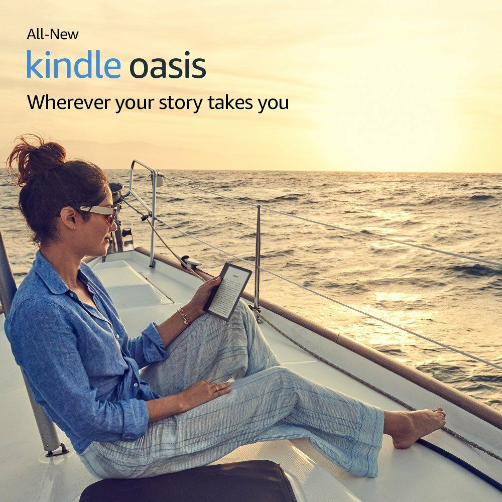 "All New Amazon Kindle Oasis E-reader 7"" Waterproof Audible 8GB Wi-Fi"