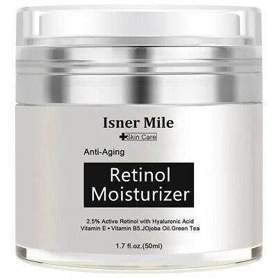 PURE RETINOL VITAMIN A 2.5% Anti Aging Wrinkle Acne Face Facial Serum / Cream