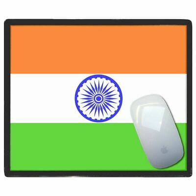 India Flag - Thin Pictoral Plastic Mouse Pad Mat Badgebeast