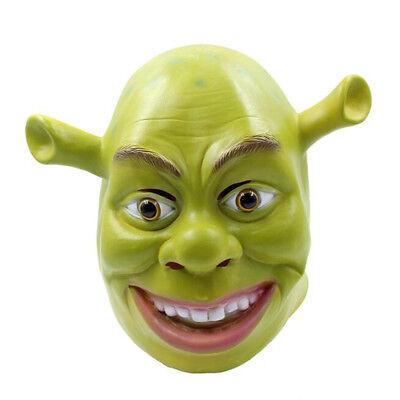 Shrek Mask Halloween (Funny Cosplay Monster Shrek Latex Headgear Face Full Mask Prop Halloween)