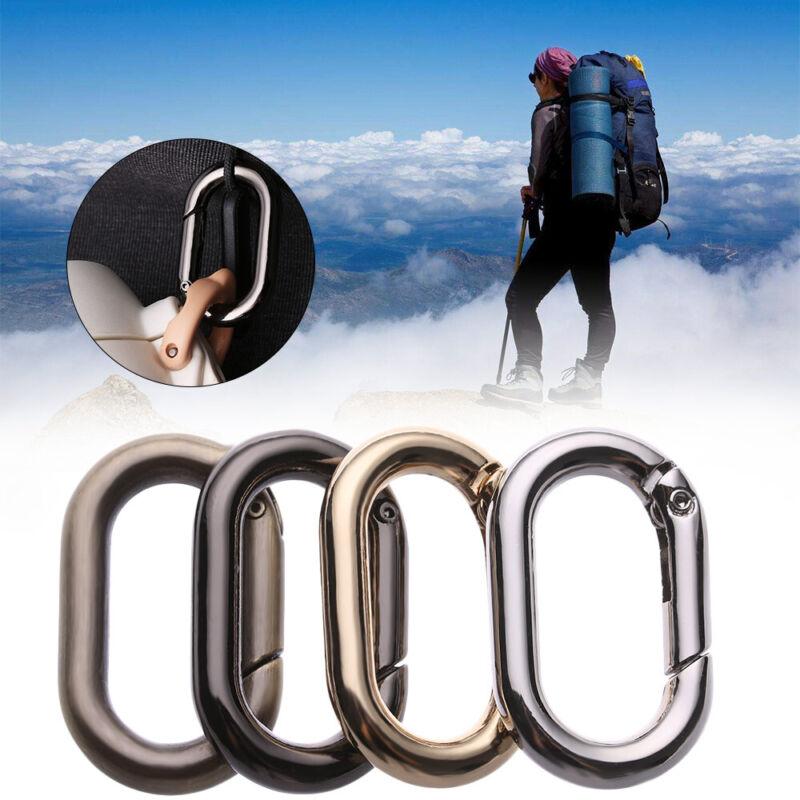 Durable Climbing Oval Hiking Zinc Alloy Carabiner Hook Keych