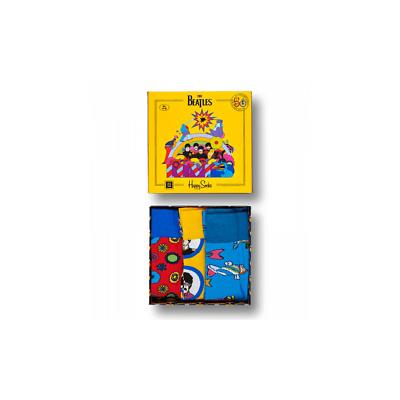 Happy Socks 3 Pair Beatles 50th Anniversary Yellow Submarine EP Collectors Gift
