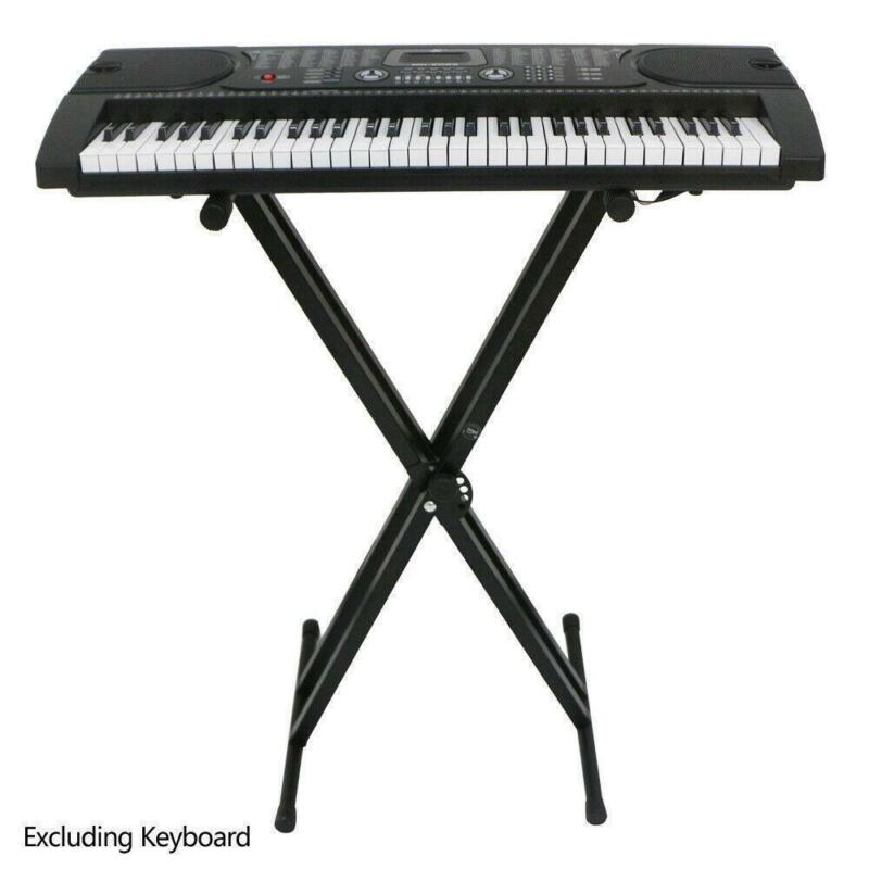 Iron Music Keyboard Electronic Piano Dual Tube X Stand Standard Rack