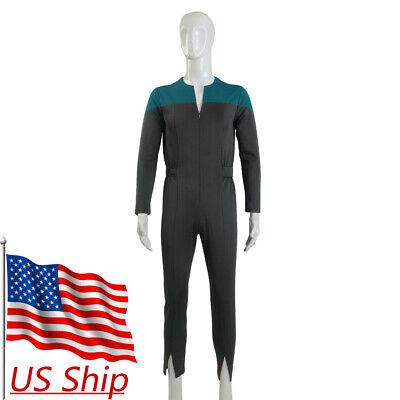 Star Trek Deep Space Nine Blue Uniform Jumpsuit  Cosplay Adult Male Costumes New (Star Trek Adult Costumes)