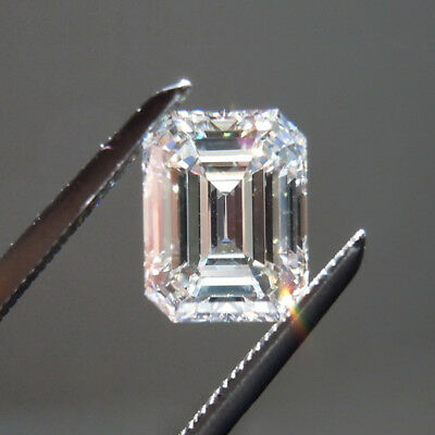 Lovely 7 X 5 MM 1 CT H-I Near White Emerald Shape Cut Loose Moissanite 4 Ring 7x5 Emerald Shape Ring
