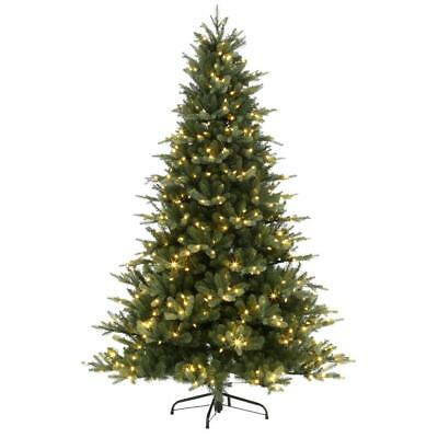 7.5 ft. Blue Noble Spruce Artificial Christmas Tree with 600 Lights (7208006-51) ()
