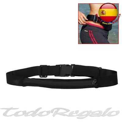 Riñonera Deportiva Bolsa Individual Simple Cintura Running Sport Cinturon Negra