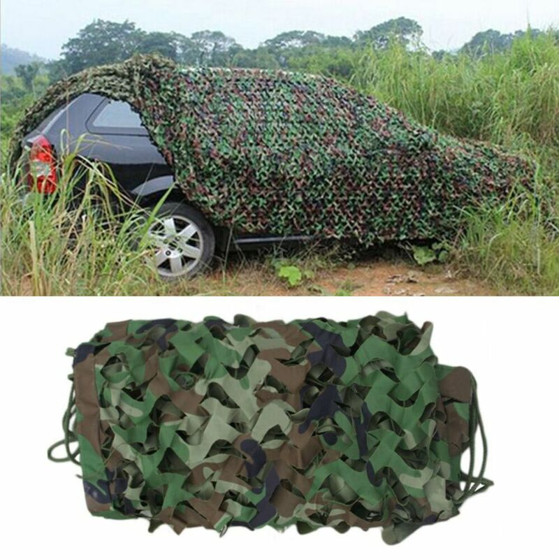 20X13ft Camouflage Woodland Shoot Hide Army Net Military Hunting Cover Netting