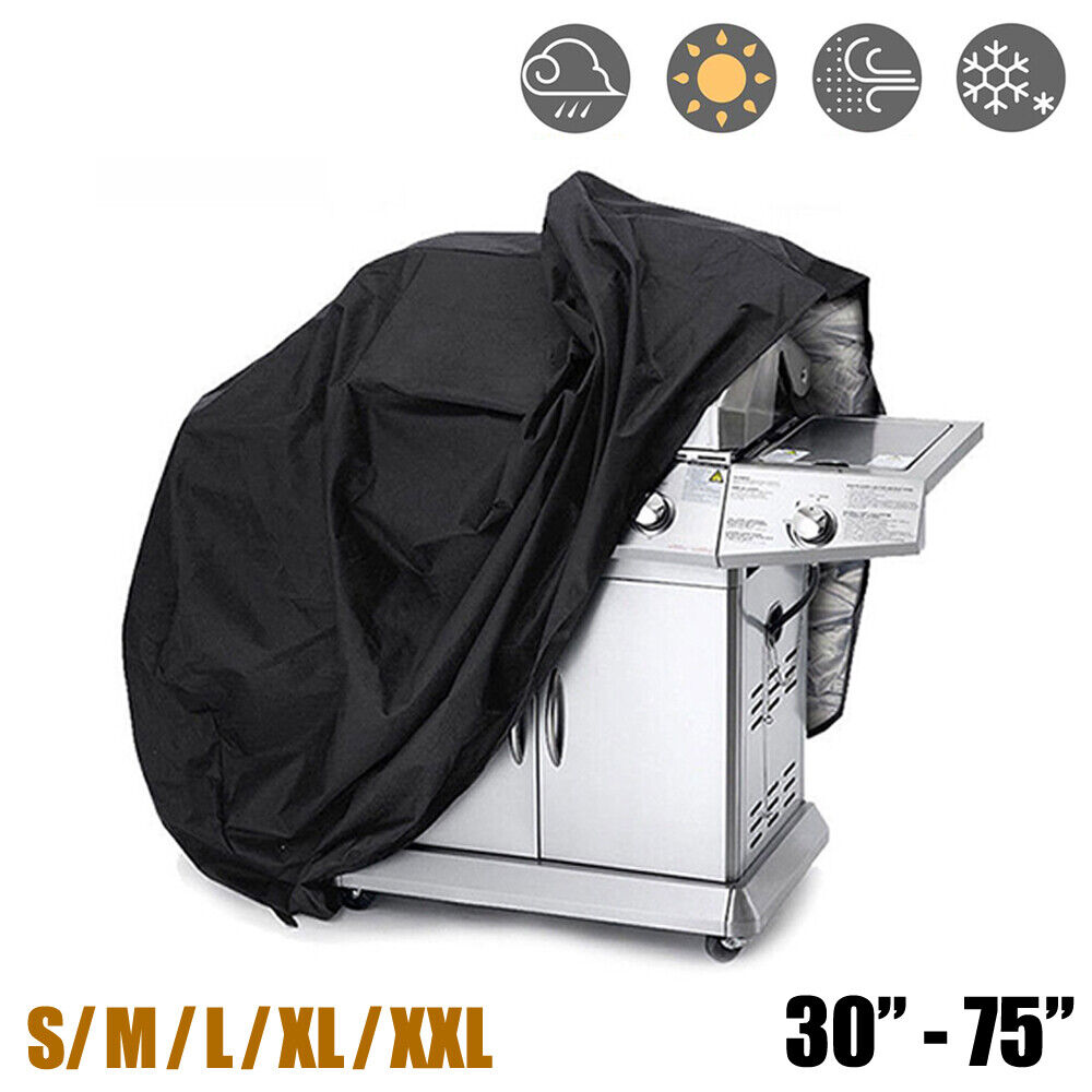 30-75 Inch BBQ Gas Grill Cover Barbecue Waterproof Outdoor Heavy Duty Protection Barbecue & Grill Covers