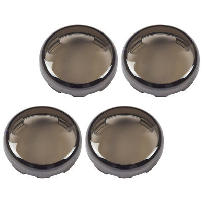 4x Plastic Smoke Turn Signal Light Lens Covers Fit for Harley Electra Glide