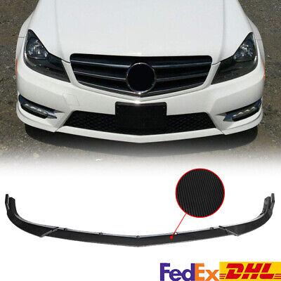 Carbon Fiber Front Bumper Lip Splitter Spoiler For Benz C Class W204 Sport 09-14