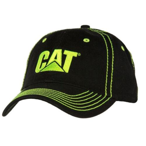 Caterpillar CAT Equipment Hi-Vis Safety Yellow & Black Contrast Stitch Cap/Hat
