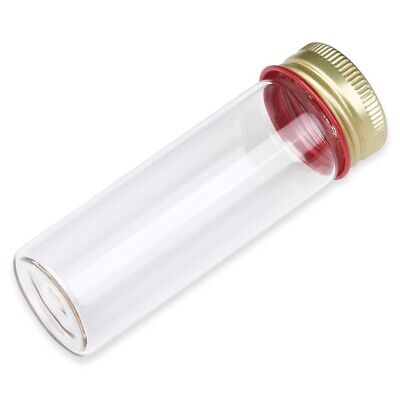 28x85mm Screw Tube With Aluminum Cap 25ml Boro. Glass Flat Btm Case 500