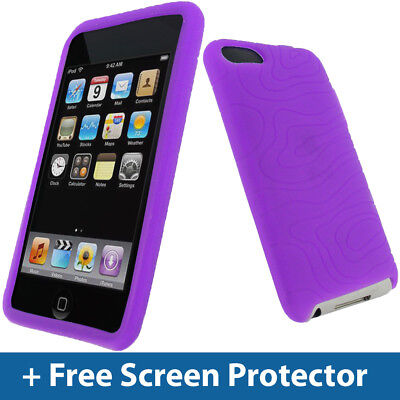 (Purple Silicone Case for Apple iPod Touch 2nd 3rd Gen 2G 3G iTouch Skin Cover)