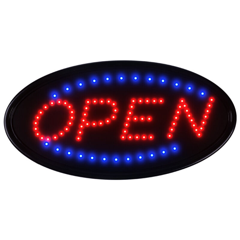 """19""""×10"""" Neon Animated LED Business Sign OPEN Light Bar Store Shop Display Board"""