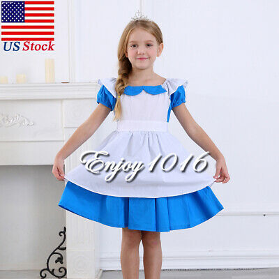 Dress Up Clothes For Toddler Girls (Girls Princess Costume For Alice Toddler Dress Up Cotton Halloween)