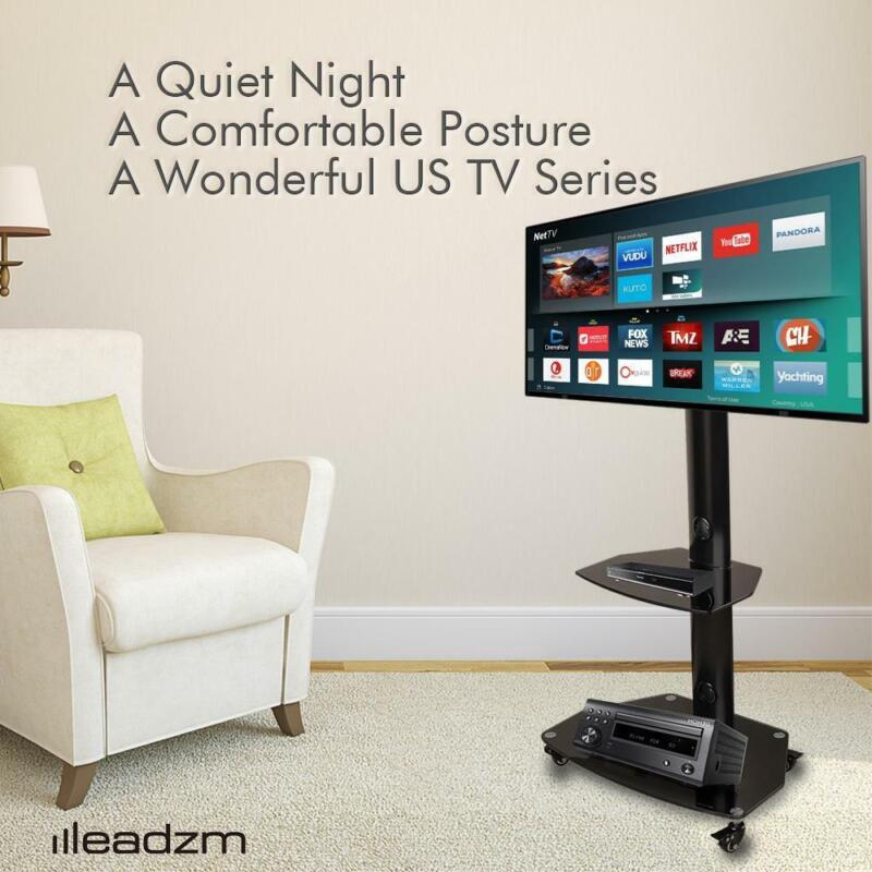 """32-65"""" Universal Flat Screen TV Carts Stand Mobile TV Console Stand with Mount"""