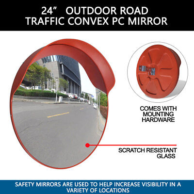 24 Outdoor Road Traffic Convex Pc Mirror Wide Angle.