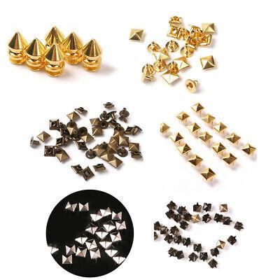 25/50/100x Metall Pyramidennieten DIY Ziernieten Punk GOLD/BRONZE/SILBER 6/8/9mm