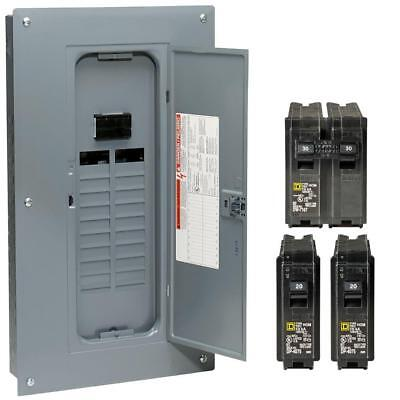Square D 100 Amp 40-circuit 20-space Indoor Main Breaker Box Panel Load Center
