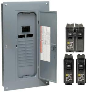 square d 100 amp panel ebaysquare d 100 amp 40 circuit 20 space indoor main breaker box panel load