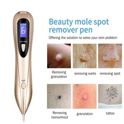 USB LCD Laser Skin Tag Freckle Wart Dot Mole Remove Pen Dark Spot Tattoo Removal