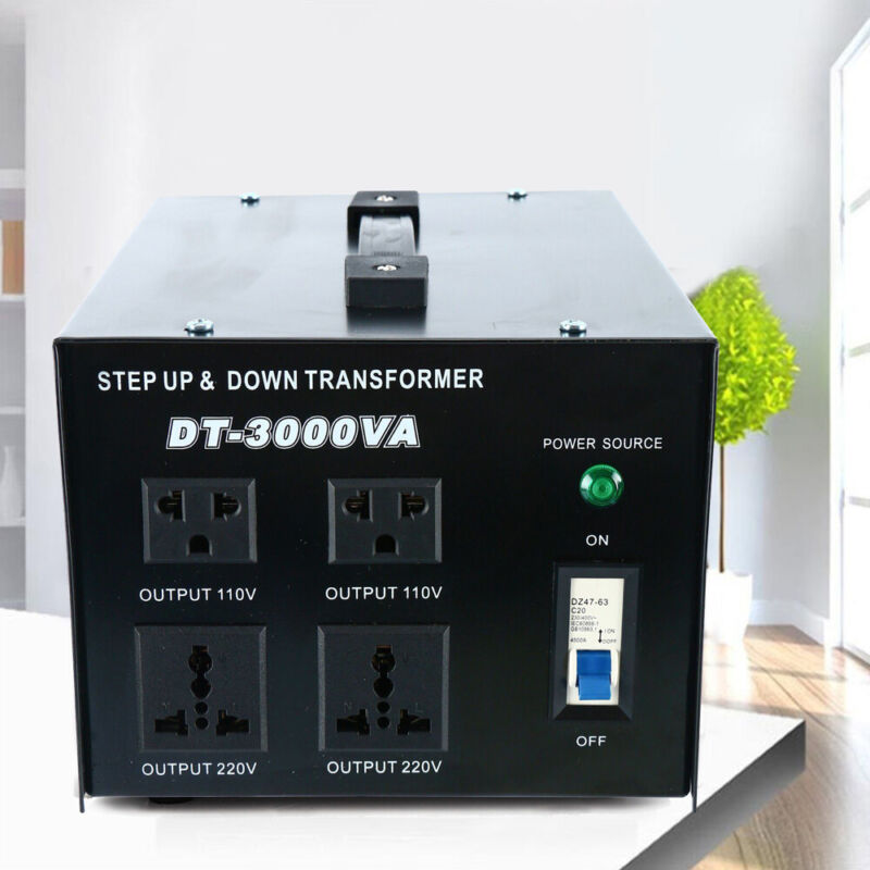 3000 Watt Voltage Converter Transformer Step Up/Down 110V from/to 220V Voltage