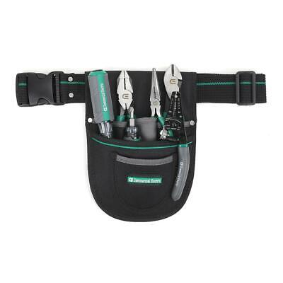 Commercial Electricians Tool Set Pouch 7-piece Heat-treated 6-pocket Storage