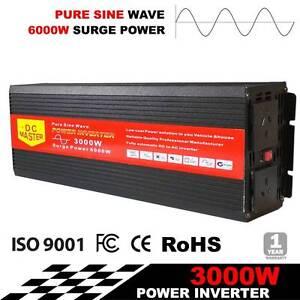 AUS FREE DEL-3000W-6000W Pure Sine Wave 12V-240V Power Inverter Sydney City Inner Sydney Preview
