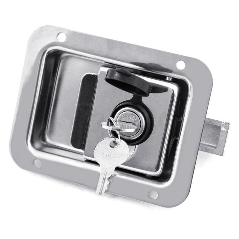 Stainless Steel Trailer Door Paddle Lock Latch Handle Truck Tool Box + 2 Keys