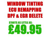 Car Window Tinting in Ilford \ Ecu Remapping \ DPF & EGR Delete