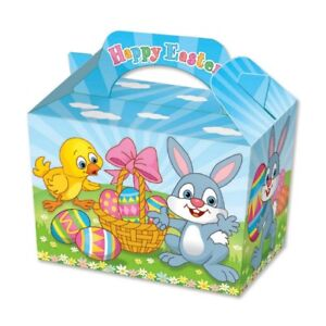 20 Easter Party Boxes - Food Loot Lunch Cardboard Gift Childrens Kids Bunny