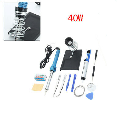 Practical 14in1 Electric Soldering Iron Gun Welding Repair Tool Kit Set 40w 110v
