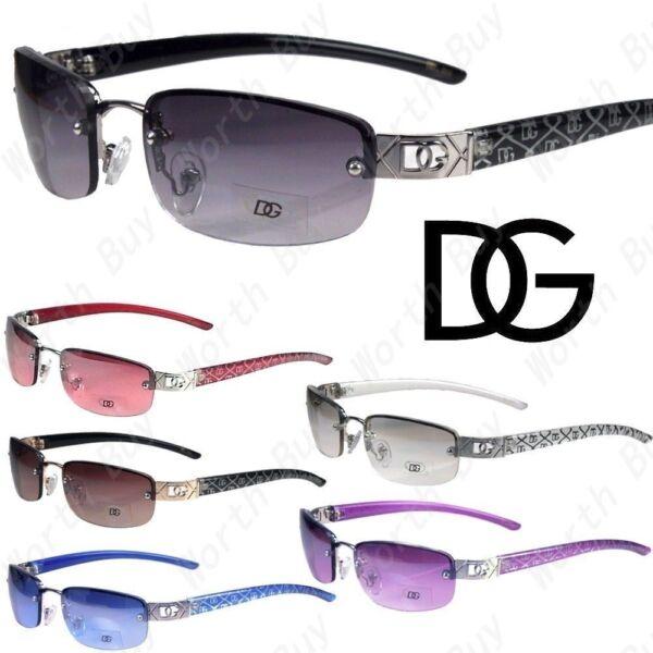 New og Eyewear Womens Small Rimless Sunglasses Fashion Designer Oval Wrap Colors