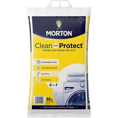 Morton Salt F125000000G Clean & Protect Water Softening Pellet, 40 Lbs