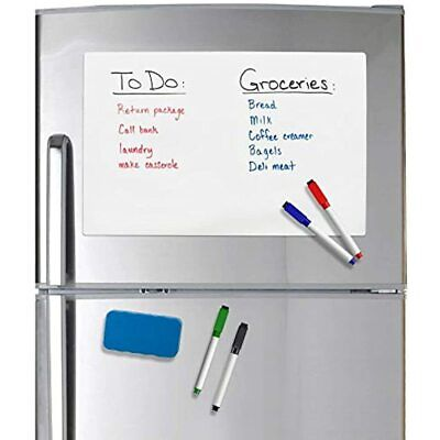 Officeline Magnetic Dry Erase Whiteboard 17 X 11 Sheet For Refrigerator With Set