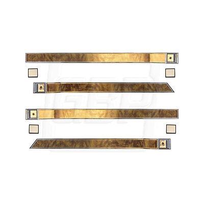 81 87 Regal Upper Door Panel Escutcheon Trim Kit   Butterfly Walnut Wood Grain