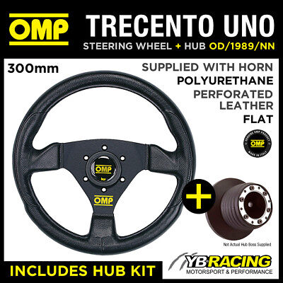 OMP TRECENTO UNO 300mm STEERING WHEEL & BOSS for RENAULT CLIO 172 182 CUP 98-06
