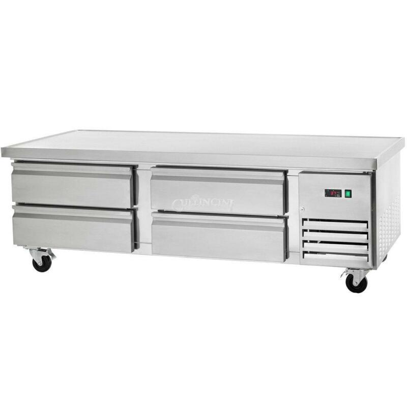 Arctic Air 74in Four Drawer Refrigerated Chef Base - Arcb72