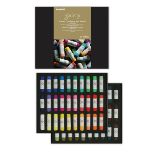 Mungyo Gallery Artists Handmade Soft Pastels Set of 60 Colors Assorted Colors