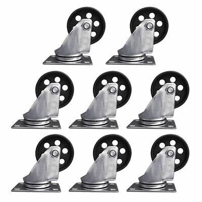 8 Set Heavy Duty Swivel Wheels 3 Caster Ball Bearing Steel Top 440lb Each Wheel