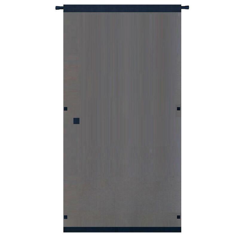 Instant Screen Door w/ Hardware 38 x 80 in. Black Durable Ea