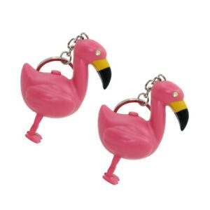 2pcs-Chic-Flamingo-Keychains-LED-Luminous-Key-Holder-Sound-Key-Ring-Key