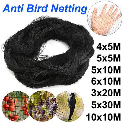 Protection Netting - 7 Sizes Black Anti Bird Net Netting Protection Plants Veg Crops Fruit Garden New