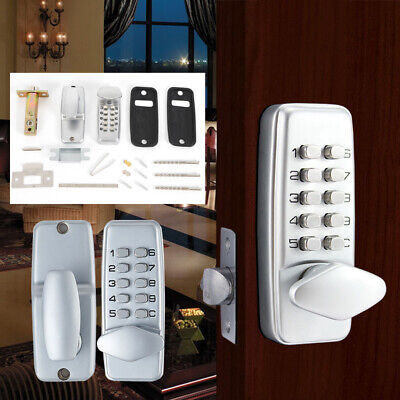 Combo Keyless Entry Lock - Mechanical Door Lock Keyless Entry Exterior Combination Digital Code Waterproof