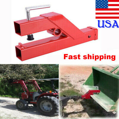 New Clamp On Trailer Hitch 2 Ball Mount Receiver Deere Bobcat Tractor Bucket Us