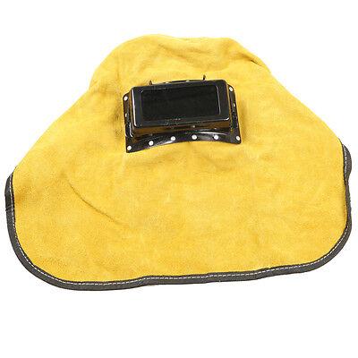 Leather Face Neck Protected Lens Glasses Welding Hood Helmet Mask Overhead New