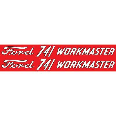 Dec437 Fits Ford 741 Workmaster Mylar Decal Fits Ford