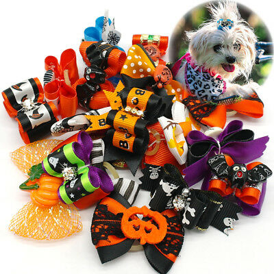 20/40/100pcs Small Dog Cat Puppy  Hair Bows Dog Grooming Accessory for - Halloween Bows For Dogs